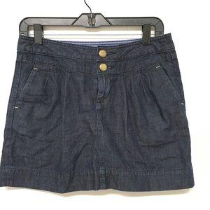 GAP 1969 Denim Jean Skirt Dark Pleated Mini 26/2